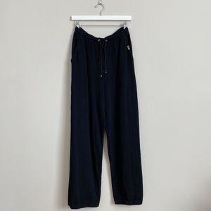 St John Sport Santana Black Knit Drawstring Pants